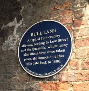 17d Bull Lane plaque