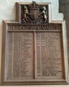 9b Minster rectory board
