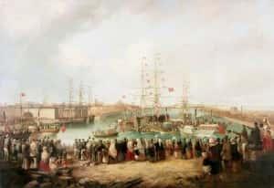 Thompson, Mark; Opening of the South Dock, Sunderland, 1850; Sunderland Museum & Winter Gardens; http://www.artuk.org/artworks/opening-of-the-south-dock-sunderland-1850-35148