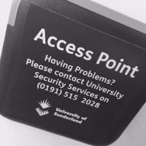 Picture of the access points you will find at the entrance and exit of our university libraries