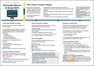 TNE library support model