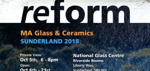 MA Glass and Ceramics degree show invite