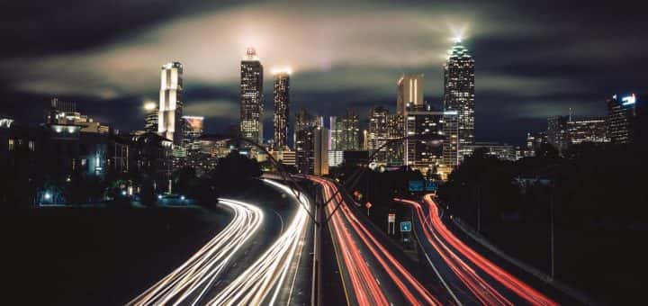 Image: time-lapse photography of city night lights
