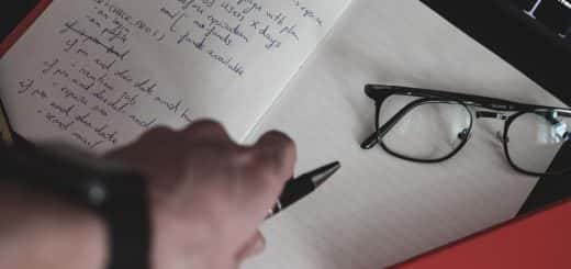 Photo: Notebook with notes