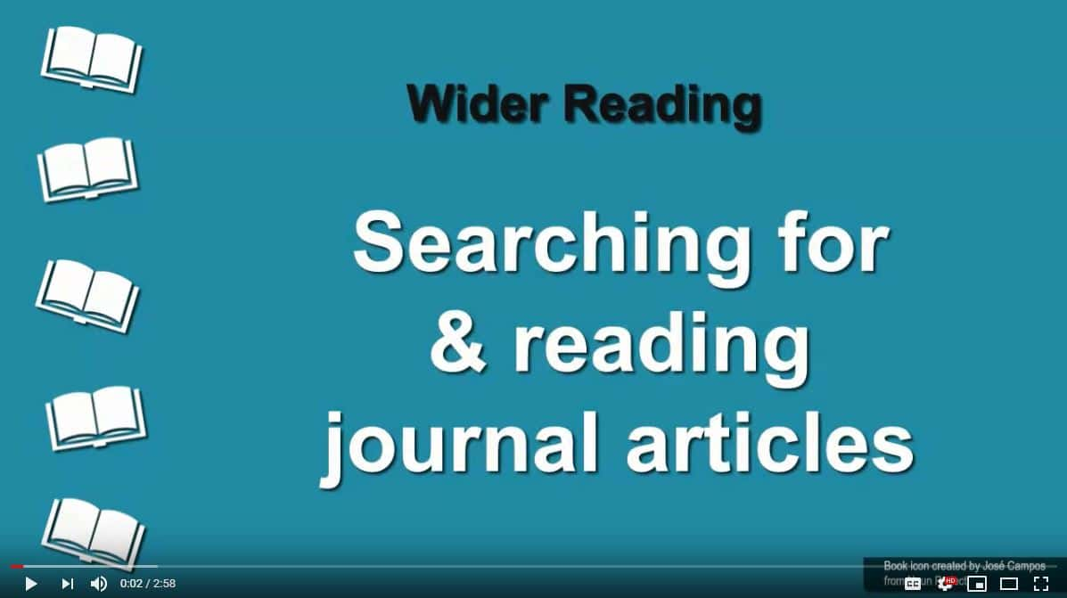 youtube screenshot search for and access journal articles