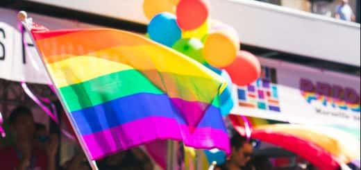Photo; pride rainbow flags