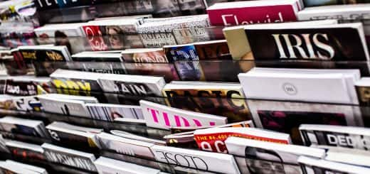 Photo of magazines on a rack