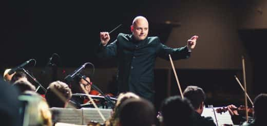 conductor, stage, music