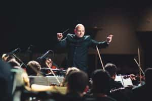conductor, orchestra, music