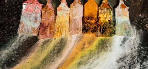 paintbrushes, pain, art