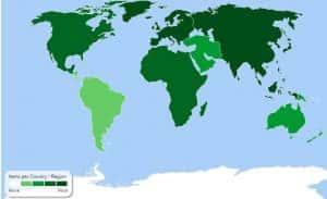 Bloomsbury world map