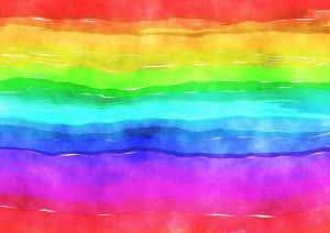 Rainbow watercolour