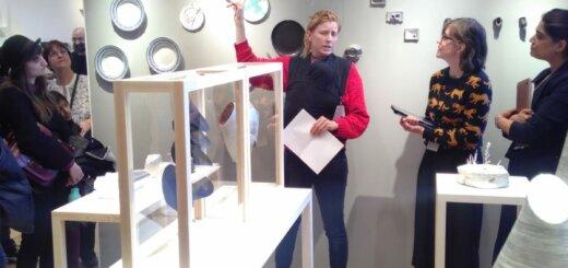 Bridget Harvey giving a talk