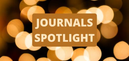 Spotlights with text overlayed 'Journals spotlight'