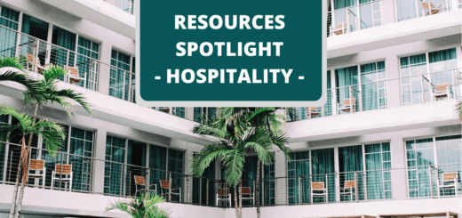 Photo of holiday apartaents,palm trees and text that says Hospitality Resources Spotlight